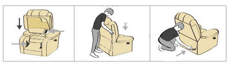 cinema chair assemble