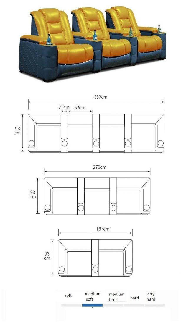 cinema chair dimensions