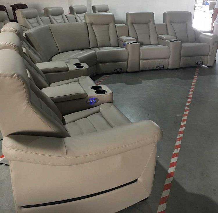 grey theater chairs for home
