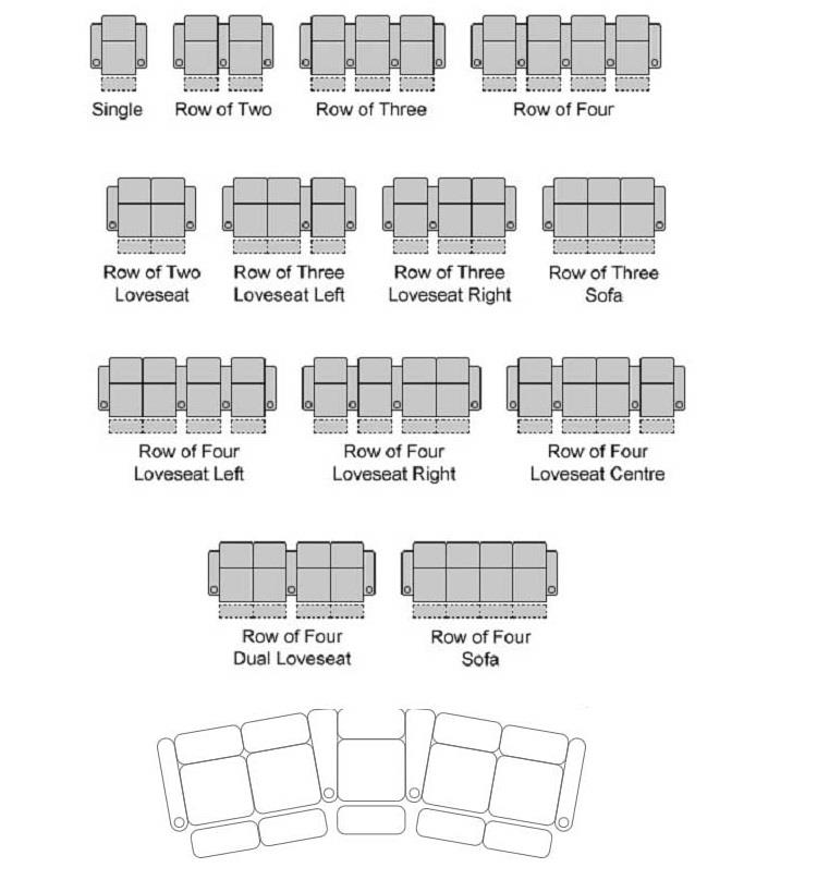home cinema chairs layout