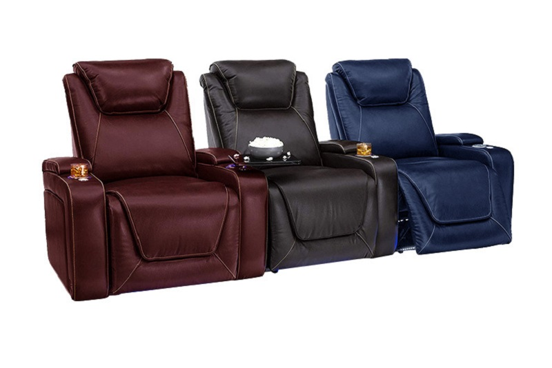 home theater recliner color options