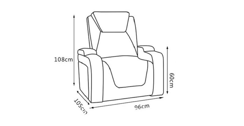 single chair dimension