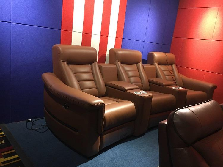 yellow home theater chairs