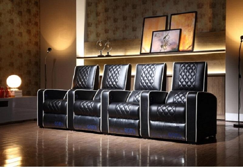 Black power recliner