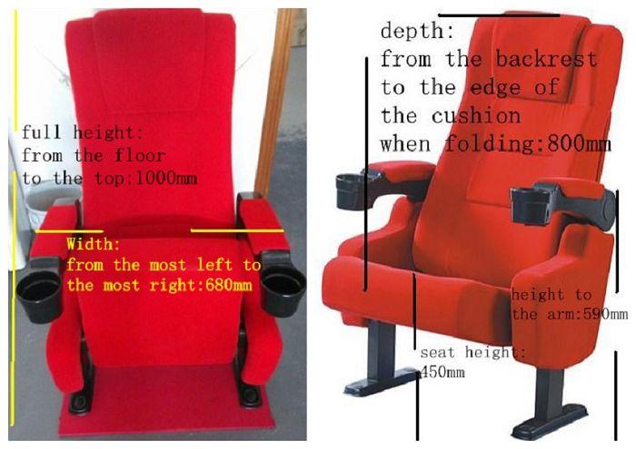 cinema seat dimensions
