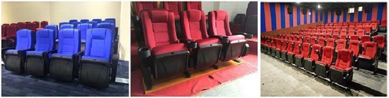 movie theater with folding cinema chairs