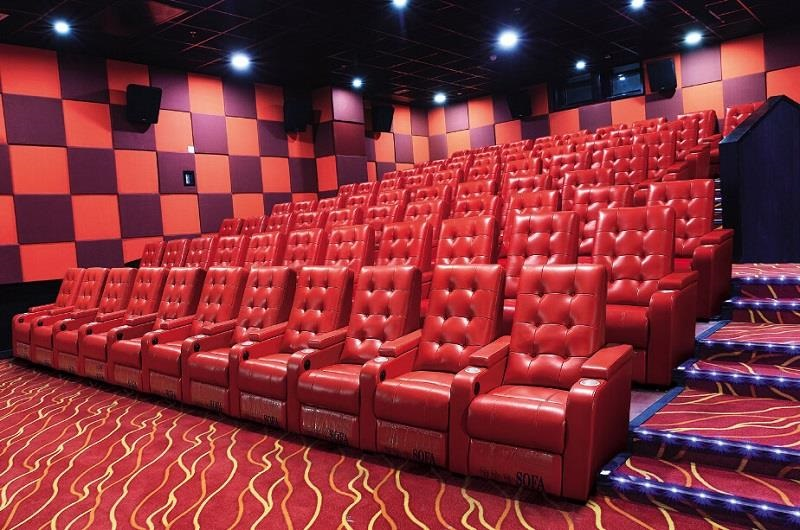 cinema red theater seating