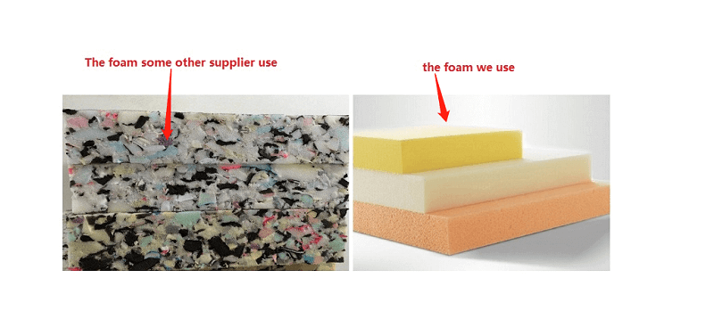 foam comparation
