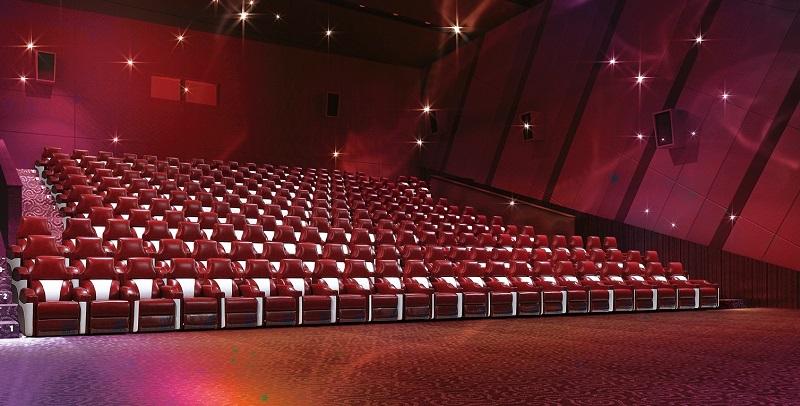 red cinema recliner