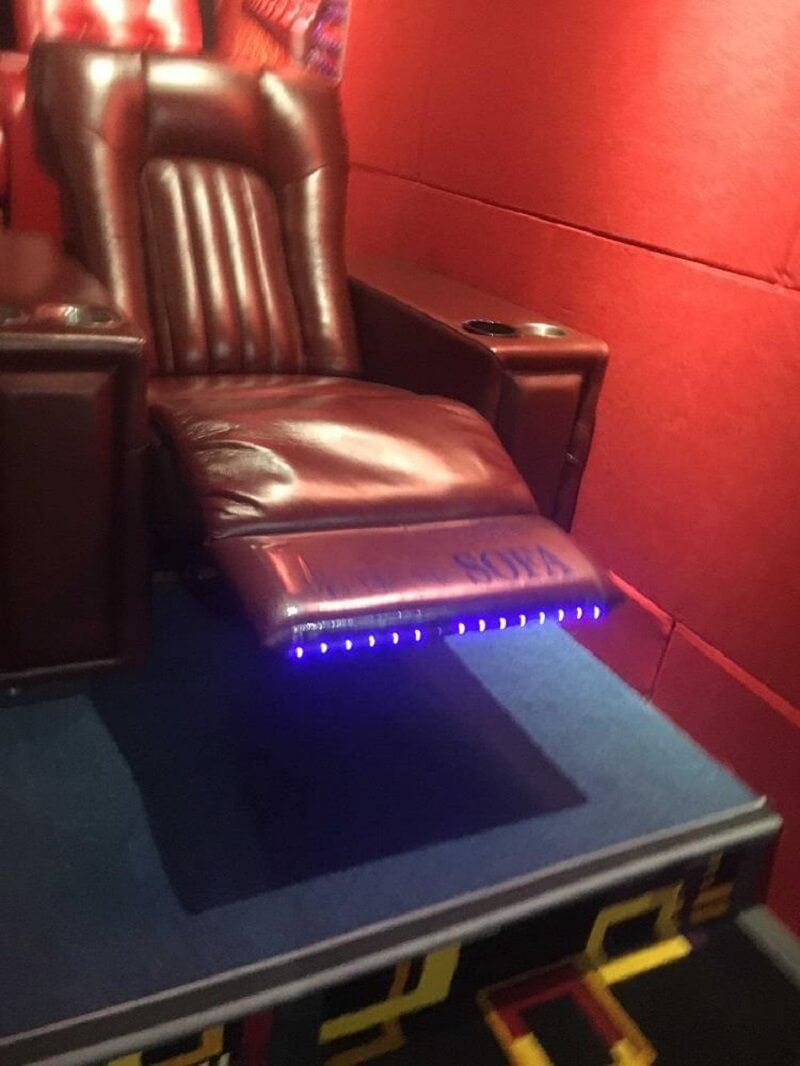 home theater chairs with footrest light