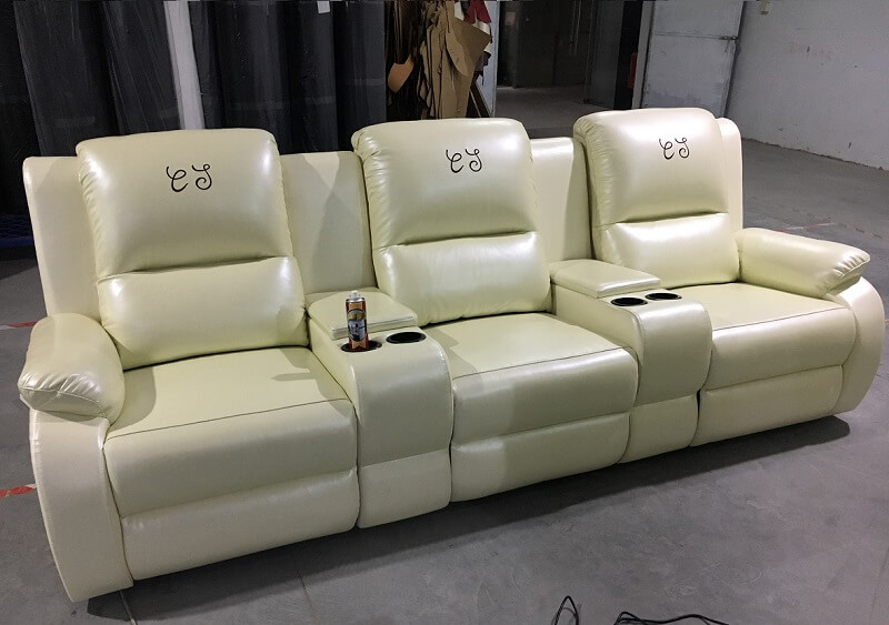3 seater theater seating sofa