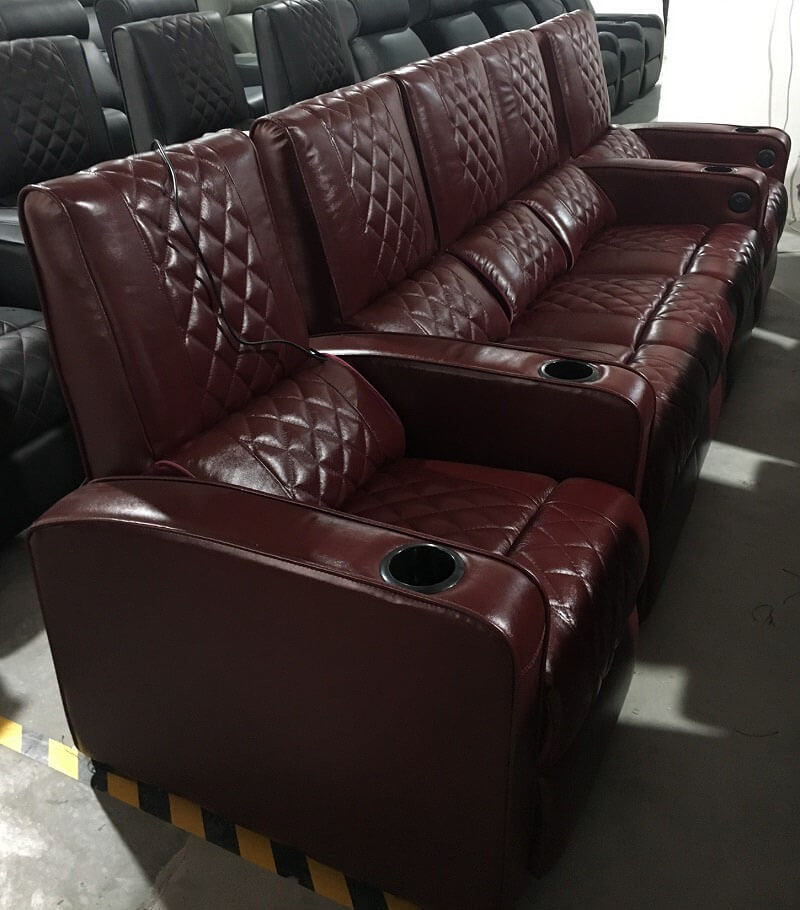 brown power recliner