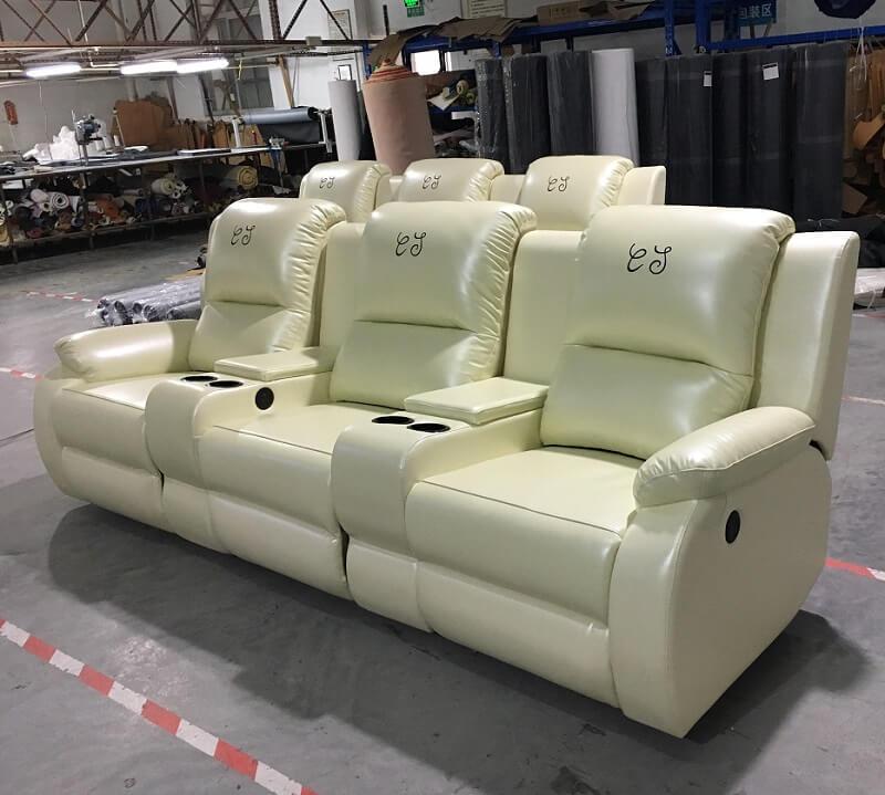 cream theater sofa