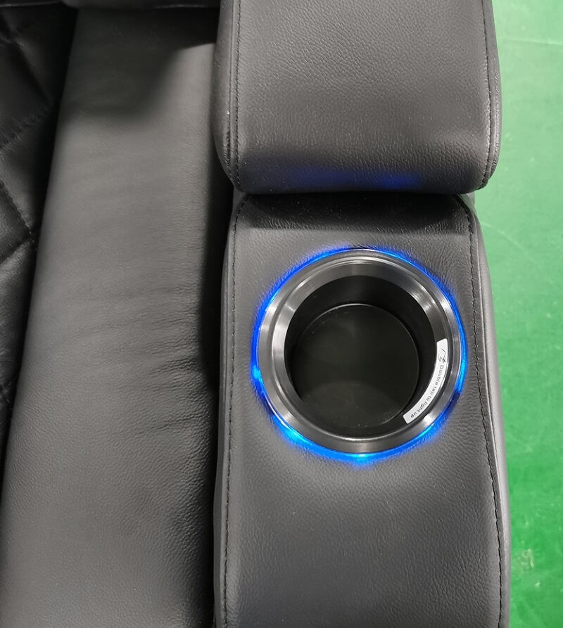 cup holder with LED light