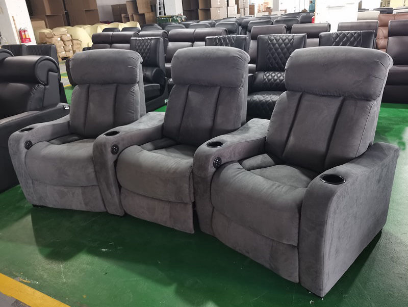 grey home theater seating