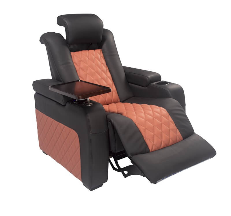 home theater sofa seating with motorised headrest