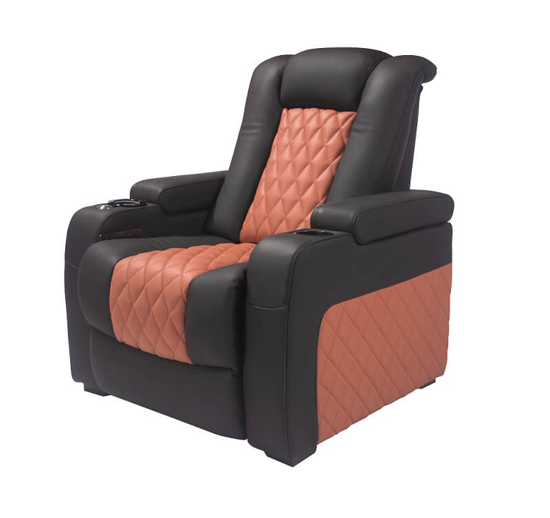 home theater sofa  with tray table