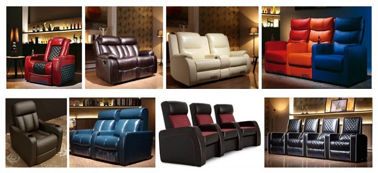 leather theater recliner