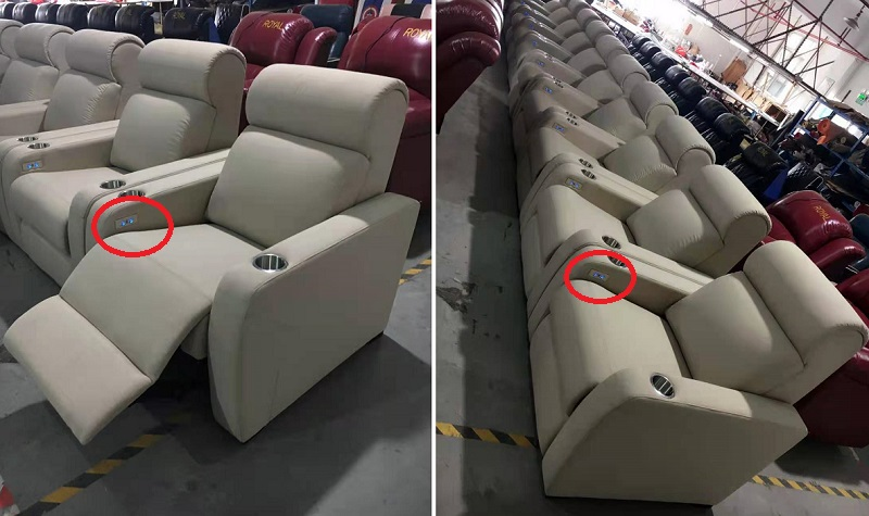 metal hand controller for power recliners
