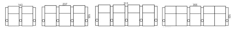 straight row layout