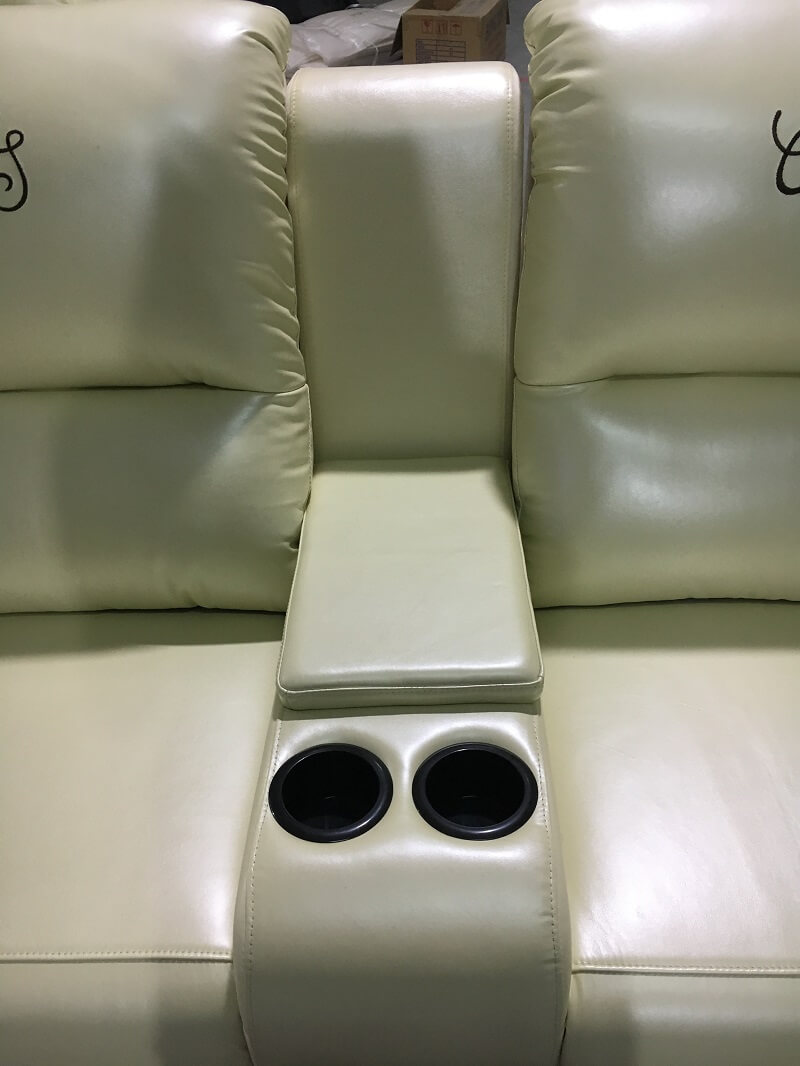 theater seating sofa with console