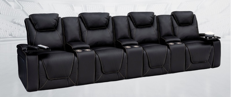 4 seat home theater seating