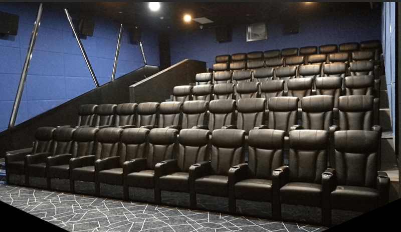 black movie theater couch