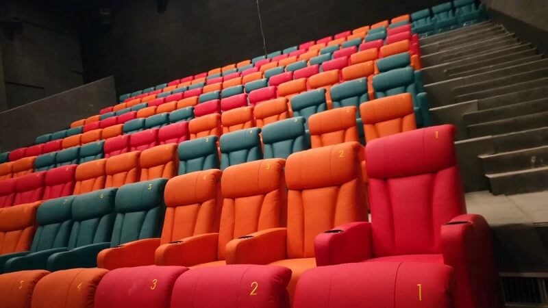 colorful theater couches