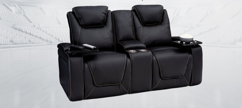 double home theater recliners
