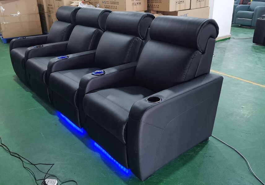 electric reclining chair with led lighting