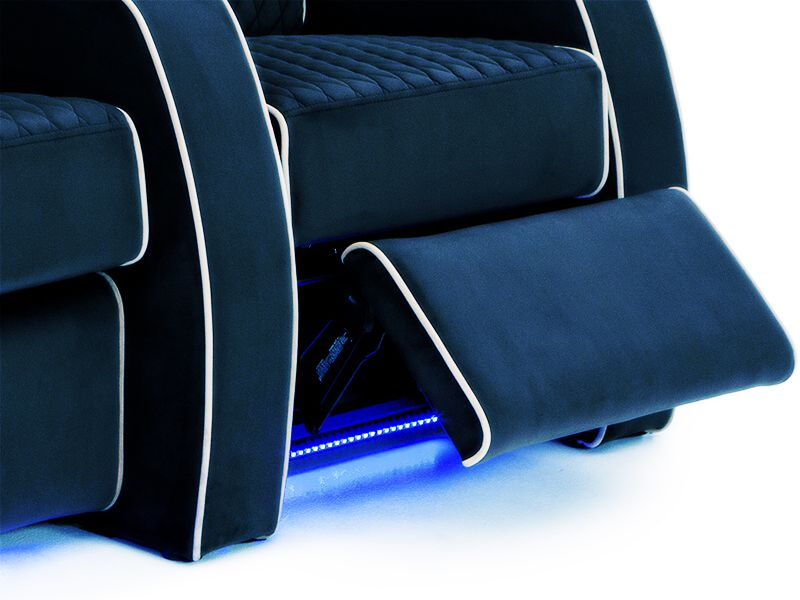 home theater recliner sofa with LED light