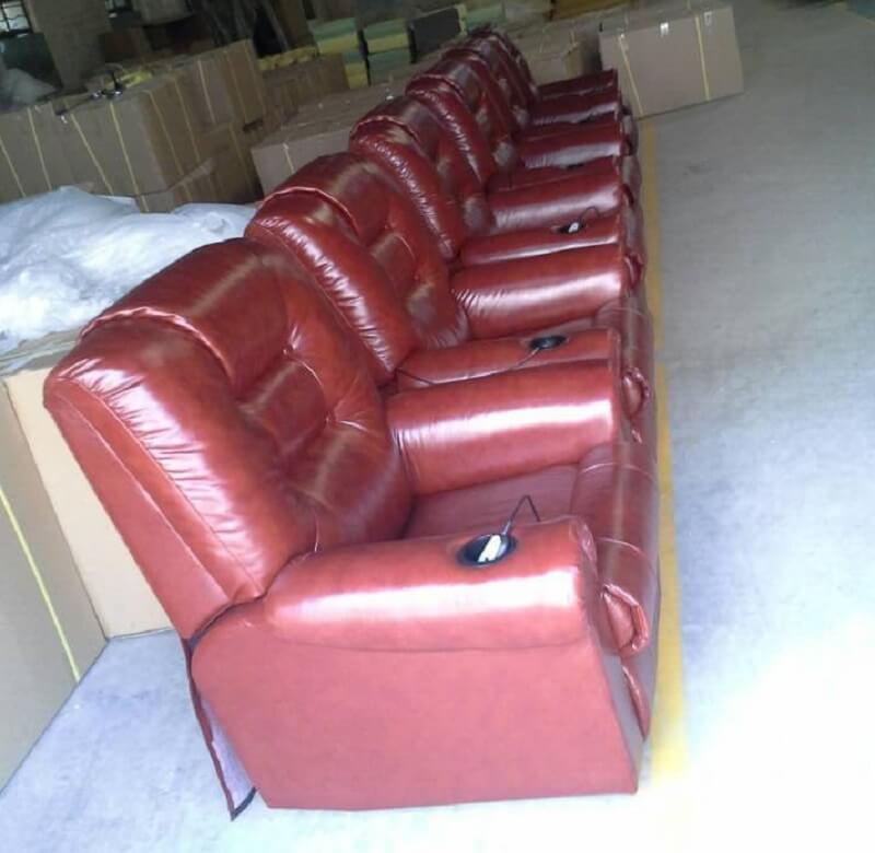 leather movie sofa