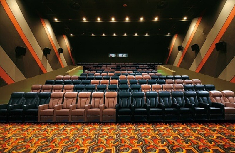 movie theater with couches