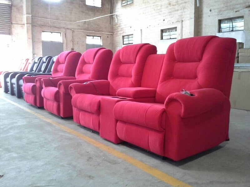 red movie recliner chairs