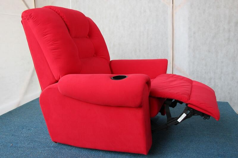 red movie recliner