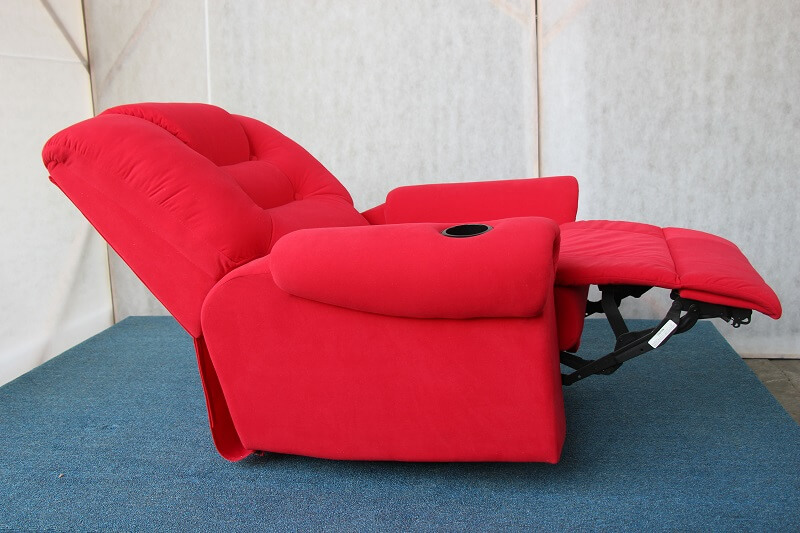 red movie sofa