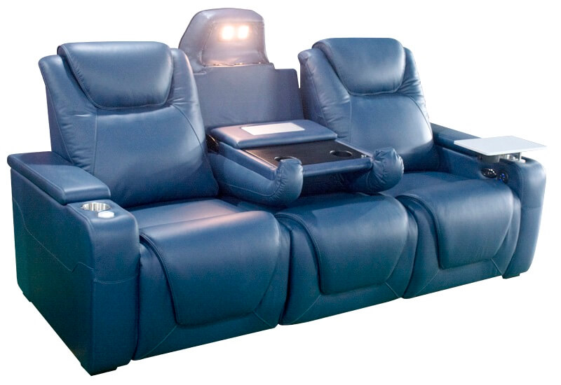 theater power recliner with USB port