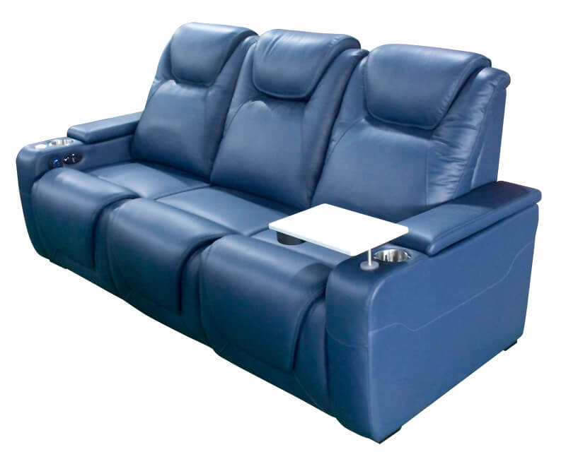 theater power recliner with tray table
