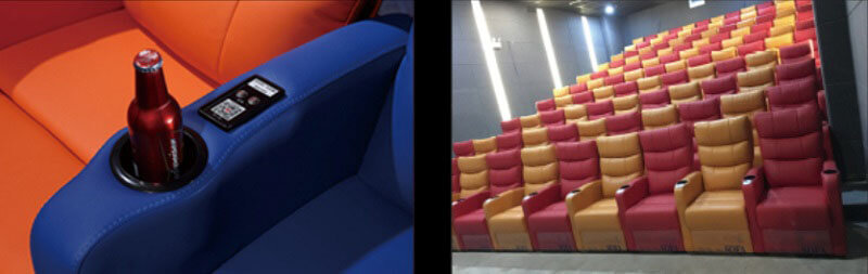 theater recliner armrests