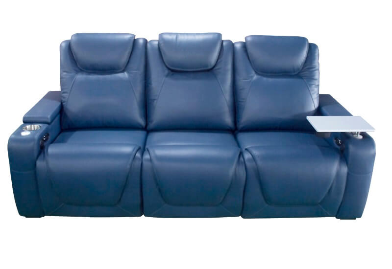 top grain leather theater power recliner