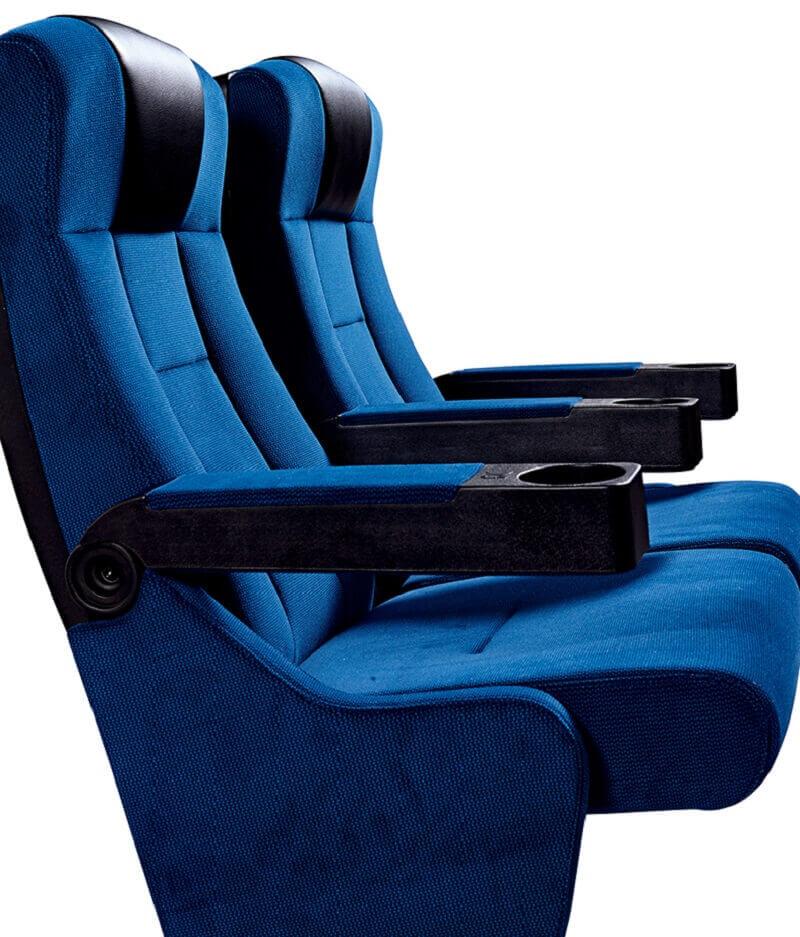 blue cinema chairs