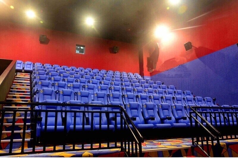 plastic theater chairs