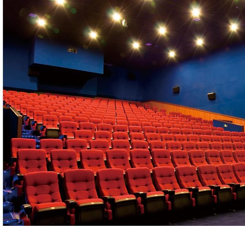 red folding movie theater chairs