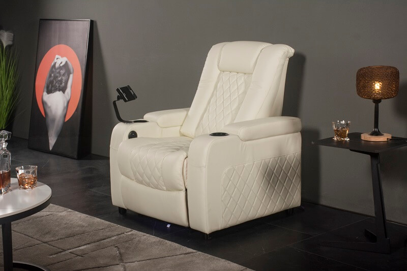 single theater recliner with tablet holder