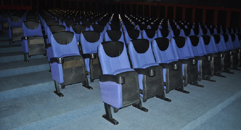 theater with movie chairs