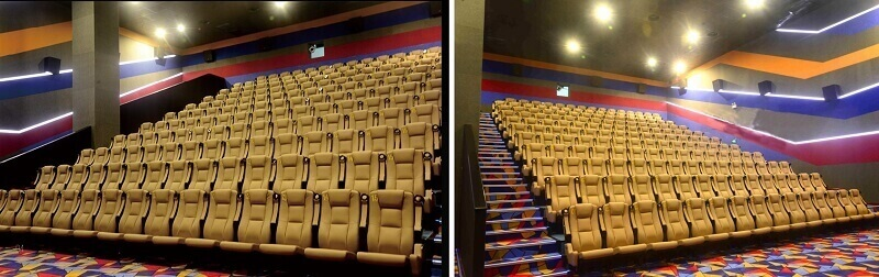 yellow theatre chairs